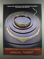 1982 Black Starr & Frost Karat Gold Jewelry Ad