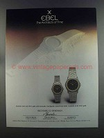 1982 Ebel Watches Ad - The Architects of Time