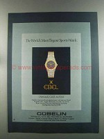 1982 Ebel Sport Watch Ad - World's Most Elegant
