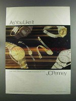 1982 JCPenney Pulsar Quartz Watches Ad - As You Like