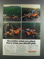 1982 Honda Big Red ATC Ad - No Matter What You Plant