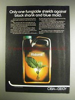 1982 Ciba-Geigy Ridomil Ad - Black Shank and Blue Mold