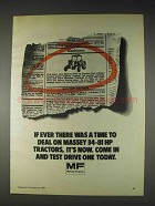 1982 Massey Ferguson Tractors Ad - Time To Deal