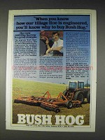 1982 Bush Hog 1440 Disc Harrow Ad - Our Tillage Line