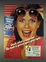 1982 Sugar Free Dr Pepper Soda Ad - What a Surprise