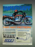 1982 Supertrapp Motorcycle Exhaust System Ad - Fast
