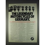 1982 BMW Motorcycles Ad - Legendary of Germany