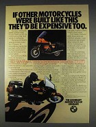 1982 BMW Motorcycles Ad - They'd be Expensive Too
