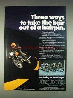 1982 Triumph Bonneville, Royal, Executive Motorcycle Ad
