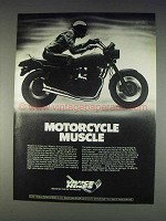 1982 Vance Hines Exhaust Systems Ad - Motorcycle Muscle