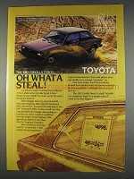 1982 Toyota Corolla Tercel Ad - Oh What A Steal