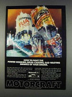 1982 Motorcraft Spark Plugs, Oil Filter & Motor Oil Ad