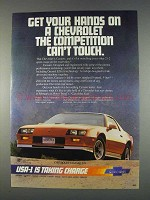 1982 Chevrolet Camaro Z28 Ad - Get Your Hands On