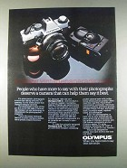 1982 Olympus OM-G and XA2 Cameras Ad - More to Say