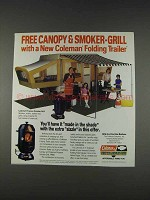 1982 Coleman Folding Trailer & Propane Smoker-Grill Ad