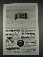 1982 Litton Model 1590 Microwave Ad - In Kitchens