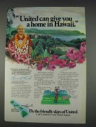 1982 United Airlines Ad - A Home in Hawaii