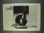 1982 Stihl 041AV Farm Boss Chain Saw Ad - Reliability