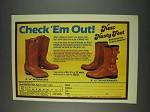 1982 Chippewa Nasty Feet Interstate & Ranger Boots Ad