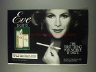 1982 Eve Lights Cigaretttes Ad - You Notice Taste