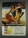 1982 Southern Comfort Ad - Everyone Needs a Little