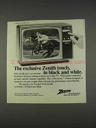 1982 Zenith Y124W Television Ad - The Exclusive Touch