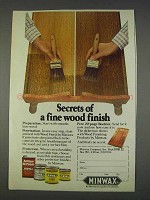 1982 Minwax Wood Finish Ad - Secrets of fine Finish