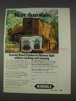 1982 Minwax Exterior Wood Finish & Wood Preservative Ad