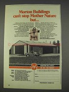 1982 Morton Buildings Ad - Can't Stop Mother Nature