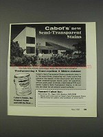 1982 Cabot's Semi-Transparent Stains Ad