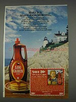 1982 Log Cabin Syrup Ad - Maple-Rich Morning