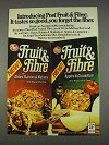 1982 Post Fruit & Fibre Cereal Ad - Tastes So Good