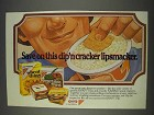1982 Nabisco Wheat, Vegetable Thins & Kraft Dips Ad