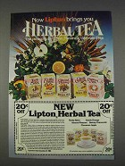 1982 Lipton Herbal Tea Ad - Pleasure-Time Tea