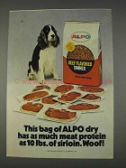 1982 Alpo Beef Flavored Dinner Ad - This Bag of Dry