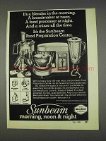 1982 Sunbeam Food Preparation Center Ad - It's A