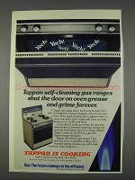 1982 Tappan Gas Range Ad - Self-Cleaning