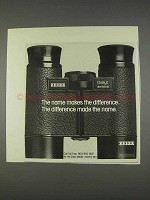 1982 Zeiss Dialyt 8x30 B Binoculars Ad - The Difference