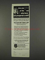 1982 The Salvation Army Ad - Not Prepared a Will?