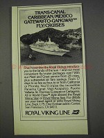 1982 Royal Viking Line Ad - Trans-Canal