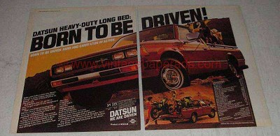 1982 Datsun Pickup Truck Ad - Born to Be Driven