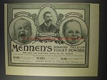 1900 Mennen's Borated Talcum Toilet Powder Advertisement