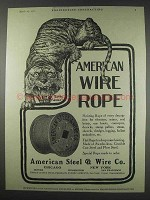 1910 American Steel & Wire Ad - Wire Rope