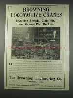 1910 Browning Locomotive Cranes Ad - Revolving Shovels