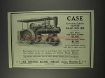 1910 Case 8 x 10-inch Cylinder 10-Ton Road Roller Ad