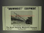 1910 Brown Brownhoist Steam Locomotive Crane Ad