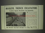 1910 Buckey Traction Co. Trench Excavators Ad