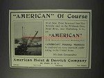1910 American Hoist & Derrick Ad - Steel Guy Derricks