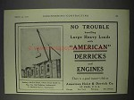 1910 American Hoist & Derrick Ad - Derricks & Engines
