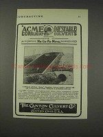 1910 Canton Culvert Acme Corrugated Culverts Ad